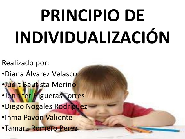 Principio de individualización 2