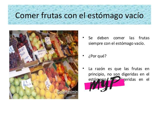 Comer frutas con el estómago vacío 1