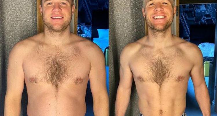 A los 35 años, el cantante Olly Murs muestra una impresionante pérdida de peso en 2 meses 13