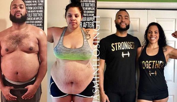 Cómo esta pareja perdió casi 100 kg juntos en 10 meses 1