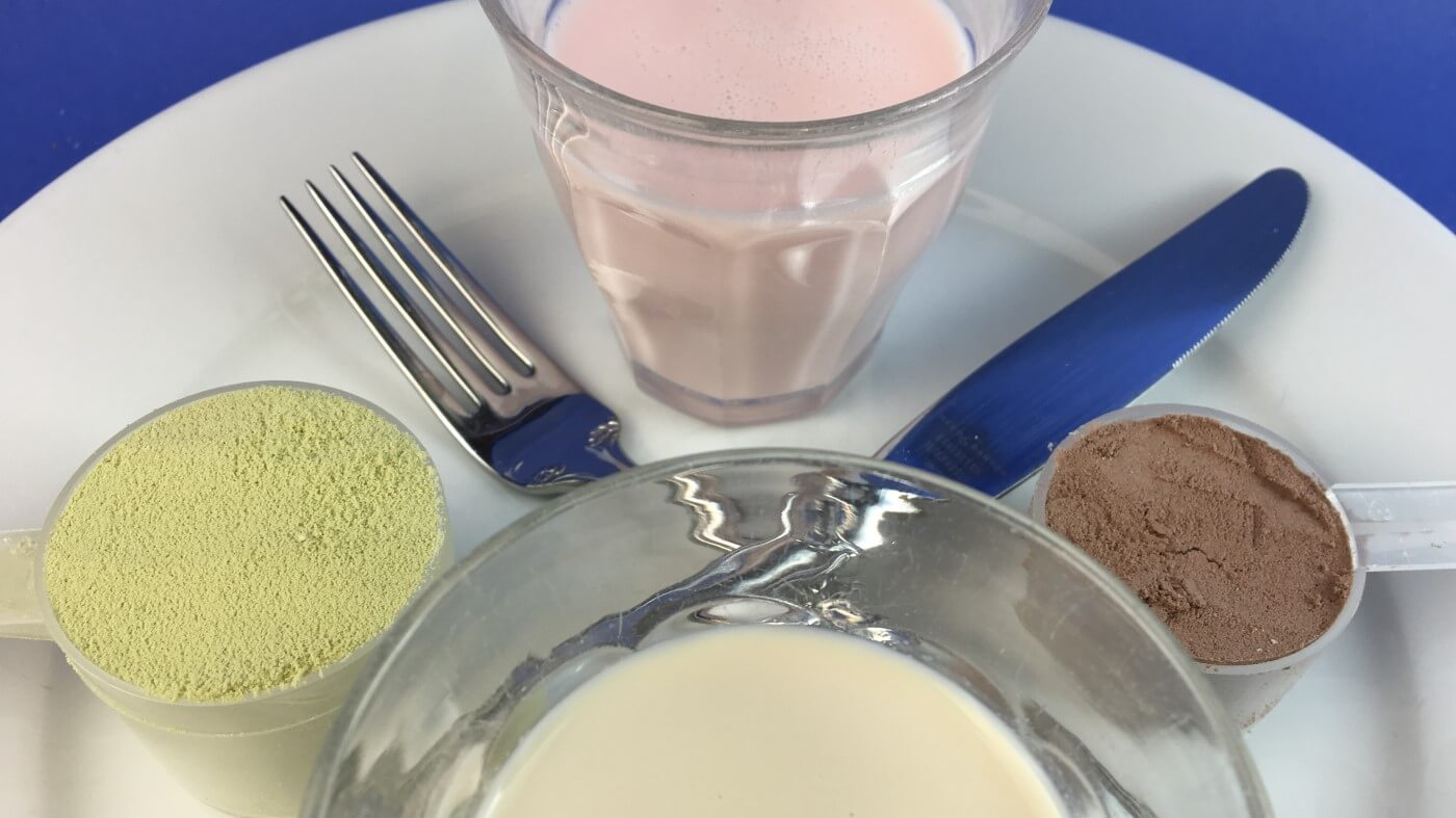 Polvos de reemplazo de comidas y revisión del sombreado y control del peso 1