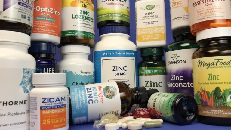 Revisión de suplementos y pastillas de zinc 1